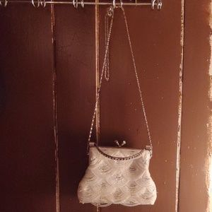 Vintage rare beaded evening bag